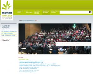 La page de la concertationsur le site de la mairie