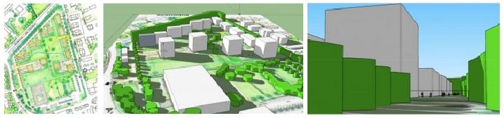 Site Paul LM. Plans et vues 3D.