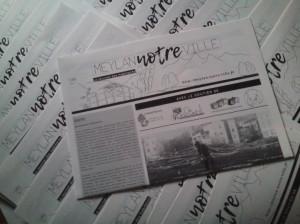 """""""Meylan, NOTRE ville"""", le journal des habitantsNuméro 1, tiré en 5200 exemplaires."""