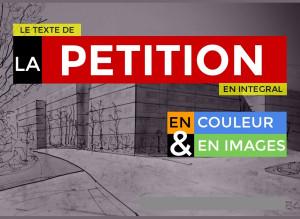 Voir le texte de la pétition, en images et en couleur