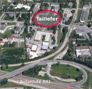 Résidence Taillefer, proche de la déchetterie de Meylan et d'une sortie d'autoroute.