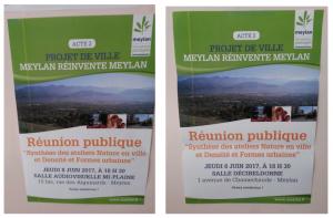 Affiches produites par la mairie de Meylan