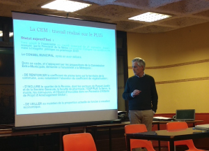 P. Bodiglio présentant la CEM